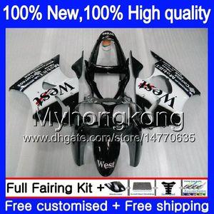 Corpo Para KAWASAKI ZX600 600cc ZZR600 2005 2006 2007 2008 Carroçaria 219MY.3 ZX600CC ZZR600 ZZR 600 05 06 07 08 Inteiro Preto oeste Fairing