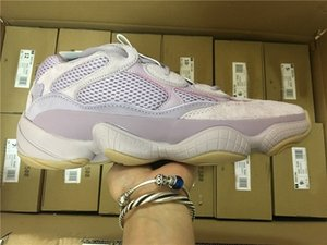 Newest Authentic Originals 500 2019 Soft Vision Stone FW2656 FW4839 Kanye West Men Women pink Running Shoes Sneakers With Box size