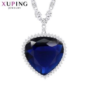 Xuping Coeur Forme Pendentif Collier Avec Synthétique Cubique Zircone Bijoux Pour Femmes Cadeaux De Jour De Noël M11-43164 J190713