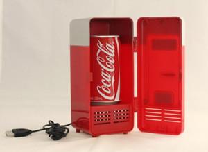 Atacado-New Mini USB LED Desk PC Gamer Geladeira Refrigerador Bebida Latas de bebida mais quente