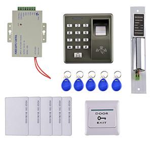 125KHZ RFID-Karte Fingerabdruck-Tür-Zutrittskontrollsystem Kit Home Security