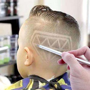 1 pluma + 10 cuchillas de pelo Pluma de talla magia aceite Cabeza Notch hombre refinado pelo del acero Razor pluma peluquero maquinilla de afeitar de la ceja de afeitar del afeitado