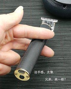 Yeni Tasarımcı KM-1971 Elektrikli Saç Kesme Şarj edilebilir Kablosuz Erkekler Sakal 0mm Baldheaded Clipper Makinesi Berber Kesme Aksesuarları
