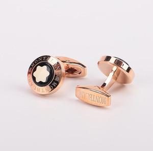 Meilleures ventes chemise françaises mens bijoux hommes boutons de manchettes Designer de mode luxe boutons de manchettes simples manches mb