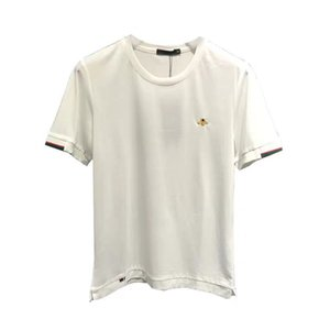 Fashion Mens T-shirt Designer Bee Embroidery Luxury Style High Quality Breathable Comfort Soft T-shirt 3 Color Size M-4XL