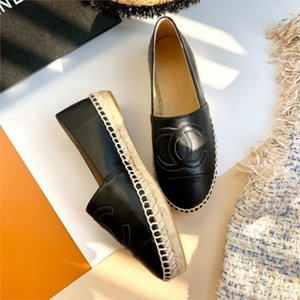 2020 New Espadrilles de mode femme Slip-On Boat Flat Pêcheur Weave Casual Toile Mocassins Chaussures oxford Lazy