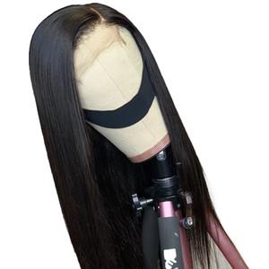 투명 레이스 150 % 밀도 13x6 레이스 프런트 가발 스트레이트 브라질 레미 헤어 깊은 부분 레이스 프런트가 인간의 머리 가발
