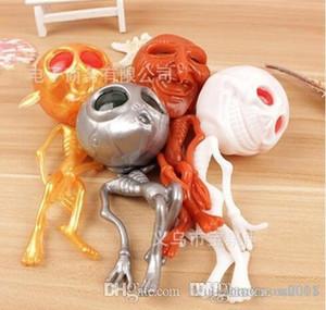 Super Beauty Kuso Crânio Originalidade fantasma do estrangeiro Head Squeeze presentes Ventilação Descompressão Espremendo Água Bola Halloween mole Brinquedos