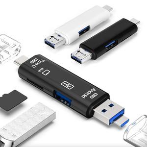 USB 3.1 قارئ بطاقة عالية السرعة SD TF بطاقة مايكرو SD قارئ نوع C USB C مايكرو USB OTG الذاكرة قارئ بطاقة لجهاز كمبيوتر محمول