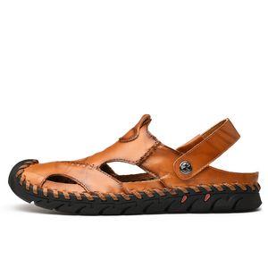 verano sandalet zandalias sandalsslippers мужчины herren homme sandalia кожа для erkek de сандалии римские сандалии летние сандалии