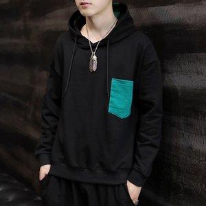 Cangyan sweat Coat sweatshirt men's autumn fashion printing round collar long sleeve sport shirt coat men's hoodie