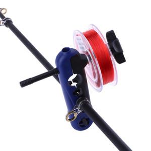 Verstellbarer Angelschnur-Spooler aus Kunststoff Tragbare Universal-Clips für alle Größen Spulenwickelspule für Rod Spulenwickler