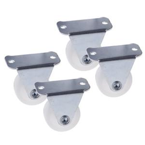 4PCS 1 Inch Weiß PP Festplattenlaufräder
