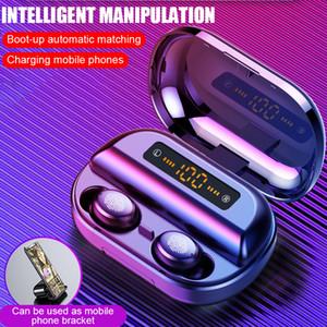V11 TWS Bluetooth Наушники 4000 мАч СВЕТОДИОДНЫЙ Дисплей Беспроводные Bluetooth V5.0 Наушники 9D Стерео Водонепроницаемые Наушники С Микрофоном