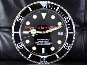 8 Stil Topselling Moda Mükemmel 116610 116710 Duvar Saati 34cm 5CM 3kg Paslanmaz Çelik Kuvars Elektronik Mavi Işıklı Saat x