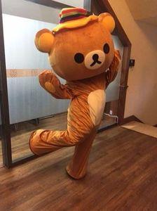 Janpan Rilakkuma Mascot костюмы Fancy медведь костюм талисмана Карнавальный Костюм Бесплатная доставка