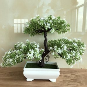 Ganoderma Ağacı Lotus Çam Ağacı Simülasyon Çiçek Yapay Bitki Bonsai Sahte Yeşil Saksı Bitkileri Süsler Ev Dekor Zanaat