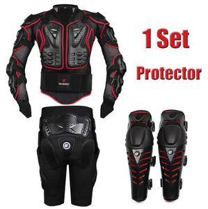 Jacket Jackets Herobiker Motocross Corrida de motocicleta corpo armadura de proteção + Engrenagens Calças Curtas + Motorcycle Protective Knee Pad Moto Armour