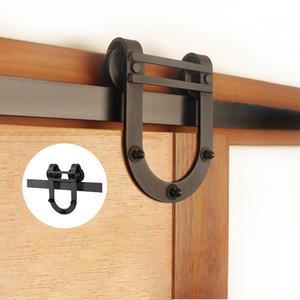 4.9FT 6FT 6.6FT Carbon steel barn wood sliding doors hardware track system