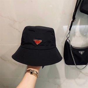 chapeau seau lettre en cuir de luxe de haute qualité lors du pliage des ventes encore chapeau de pare-soleil de plage de pêcheur noir pliant chapeau melon