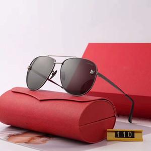 Verão Dos Homens Das Mulheres Designer de Óculos De Sol Da Moda Óculos de Sol Adumbral Óculos De Condução Óculos de Grau UV400 Modelo 110 5 Cores de Alta Qualidade com Caixa