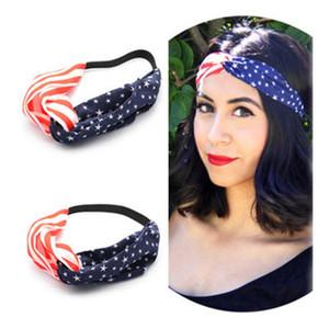 Drapeau américain Bandeau filles Turban Bandeaux élastiques 4 Drapeau USA Jour de l'Indépendance Juillet Turban Accessoires cheveux