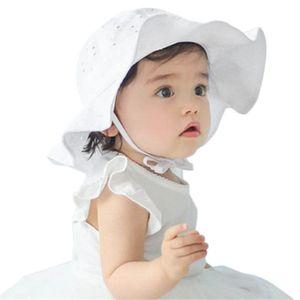 Unisex niño infantil para niños al aire libre del sol del casquillo del verano bebés de los muchachos Sun Beach Cotton Hat para 1 ~ 4 años Año Nuevo Dropshipping