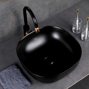Роскошная ванная комната Раковины Art Ceramic судно Матовый розового золота Золотой матовый черный белый Золотой умывальником Чаша бассейна Раковина