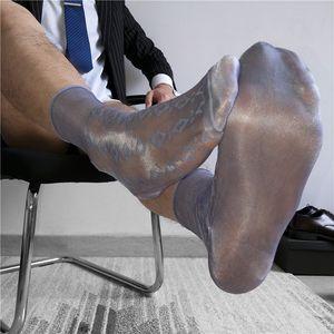 Tüp Çorap Erkekler Çorap İş Elbise çorap Şeffaf Çorap Egzotik Resmi Giyim Şeffaf Çorap Suit Erkekler Seksi Şeffaf TNT