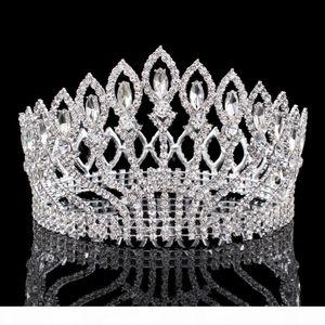 Vintage Big Rhinestone Prom Princess Crown Crystal Bride flower Tiara Bridal Head Jewelry Pageant Wedding Hair Accessories X912