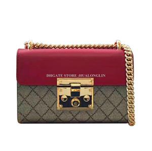 Echtes Leder-Kuriertasche Frauen Lederhandtasche hochwertige original box Markendesigner berühmt neue Art und Weise Reißverschluss weiche Förderung