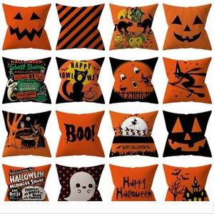 50pcs Creative Halloween Pillowcases European and American Holiday Home Decoration Sofa Cushion Cover Halloween Pillow Case