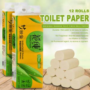 12Rolls Bamboo Paper polpa molle Coreless bambino 4 strati No Profumo Wc Smooth Cucina di pulizia asciugamani di carta