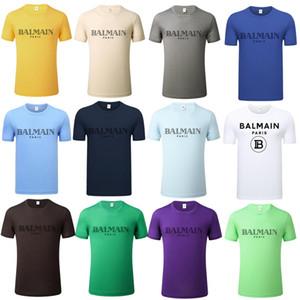 2020 Luxe T-shirt Mode Homme T-shirt décontracté T-shirt Homme manches courtes lettres imprimé broderie autocollants pour hommes drôle