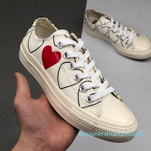 1970 Play shoe chuck 70 all star chaussures Canvas Jointly Big With Eyes Heart Beige Black designer casual Skateboard Sneakers 35-44 03d