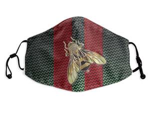 Maschera Mens Tie maglia Moda Cravatte Moda Bocca esterna con 2pcs PM2.5 filtri personalizzati stampa lavabile antipolvere Bocca di copertura traspirante