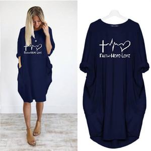 Pullover O Collo lungo inverno Lettere manica Stampato Femminile abito allentato casuale Abbigliamento da donna Womens Desinger Abiti