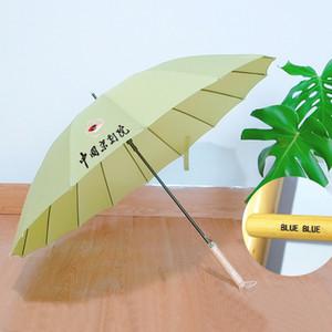 Promoção customizável sólido punho de madeira Guarda-chuvas Golf Strong Windproof Unisex Guarda-chuva personalizado Proteção UV Umbrella DH0997 T03