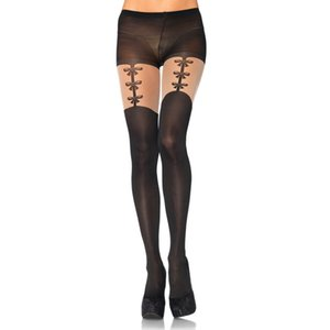 Women tights Sexy Solid Color Stockings See-through Color Matching Pantyhose Black women's socks women beauty clothes