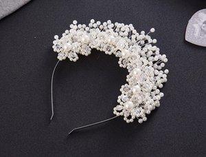 Fashion Gold Argent avec cristal alliage Crown Crown Crown Hair Band Accessoires de cheveux Bijoux Bijoux de mariée Bijoux