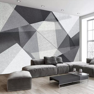 Drop Shipping Custom Mural Wallpaper Modern Minimalist 3D Stereoscopic Geometry Polygon Photo Wall Paper Wall Painting