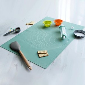 Non-slip Silicone Pastry Mat Large with Measurements Kitchen Silicone Baking Mat Counter Dough Rolling Oven Liner Fondant Pie Crust Mat