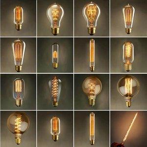 Урожай Эдисон лампы AC 110V E27 40W Ретро Лампа накаливания Свет лампы для гостиной Спальня Столовая Home Decor