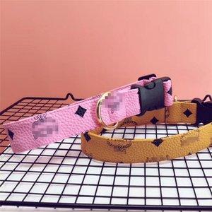 Verão Últimas Pet Coleiras Set High Street Personalidade animais Collar trelas clássico design impresso trelas Bichon