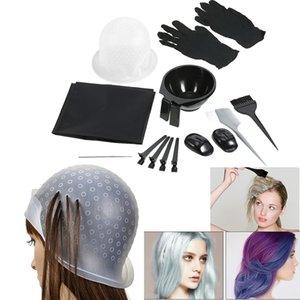 Tigelas de Mistura de Cor de cabelo profissional Tinting Salon Avental Gancho de Cabelo Tingimento Cap Escova Seção Clips de Cabeleireiro Ferramentas de Coloração de Cabelo