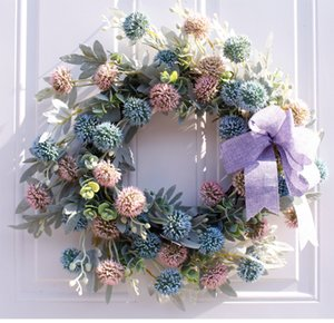 Front Door Wreath Decoration Mariage Wedding Party Farmhouse Wall Decor Farm House Flower Wreath Floral Artificial Wreaths