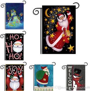 Bandeiras do jardim de natal Papai Noel Tema Casa Jardim Pátio Pendurado Bandeira Xmas Decoração Bandeira Ornamento Acessórios Frete Grátis