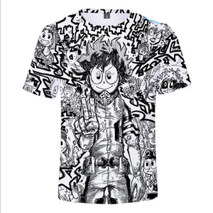 Boku No Hero Academia 3D Print Kids T Shirt Boys Girls Short Sleeve Children's T-shirt Anime My Hero Academia Cosplay Costumes