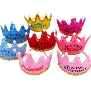 Party Baby Shower Supply Birthday LED Shine Crown Hat Anniversary New Glisten Children Illuminate Beautiful King&Princess yq01803