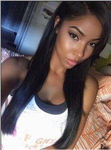 Glueless Straight Hair Wigs Virgin Human Hair Wigs for Black Women Lace Front Wigs Bellahair Natural Color dhl Free Shipping